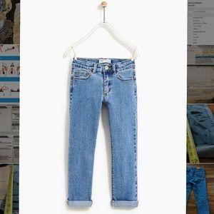 Zara Kids Basic Straight Jean Light Blue sz 13-14